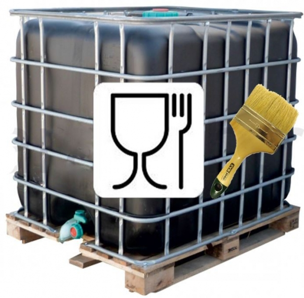 Еврокуб тысячу литров с удобным сливным краном и заливной горловиной.Идеально подходит для пищевых продуктов или питьевой воды.