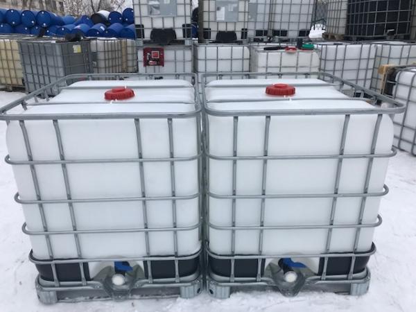 Еврокуб 1000 л, б/у, чистый пропаренный из под пищ. веществ (поддон металл/пластик)