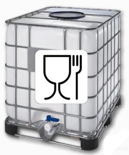 Еврокуб объёмом тысячу литров с широкой заливной горловиной на металлическом поддоне.Для пищевых продуктов , питьевой воды и разведения живой рыбы.