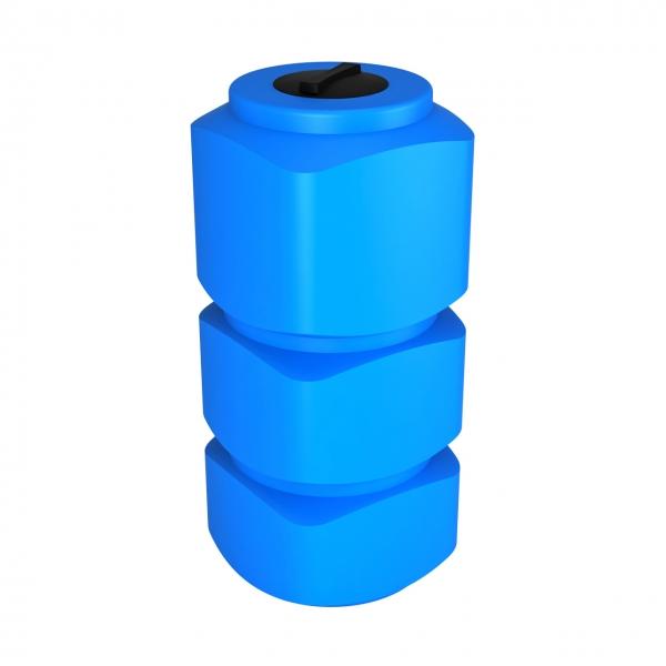 Пластиковая ёмкость вертикальная для хранения дизельного топлива,питьевой воды,пищевой продукции,проходит в дверной проём,по самой дешёвой цене в Москве.