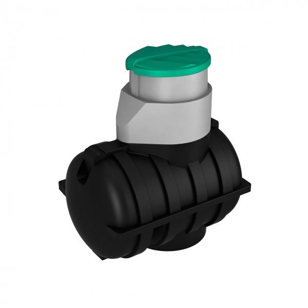 Пластиковая подземная ёмкость для канализации(септика) на даче или загародном доме, объёмом тысячу двести пятьдесят литров,с комплектующими для установки,дёшево в москве.