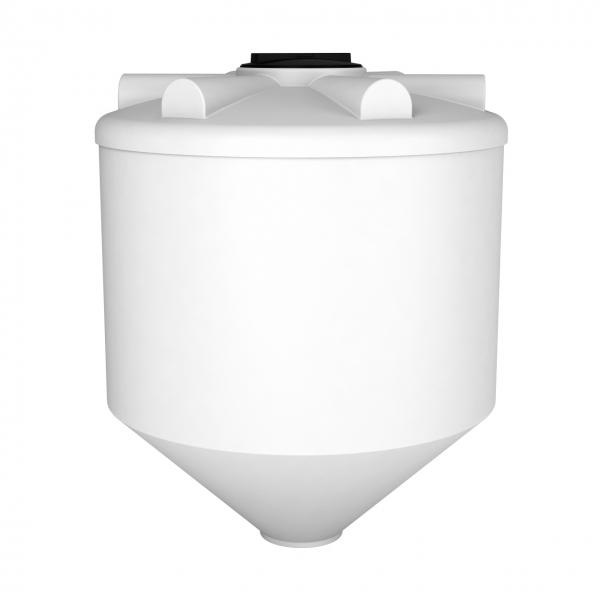Пластиковая емкость конусной формы с нижним сливом, что обеспечивает дозированную подачу, и при необходимости полный слив хранящейся жидкости,дёшево в Москве.