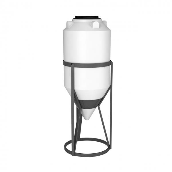 Пластиковая емкость  имеет конусную форму с нижним сливом, что обеспечивает дозированную подачу, и при необходимости полный слив хранящейся жидкости по низкой цене в Москве.