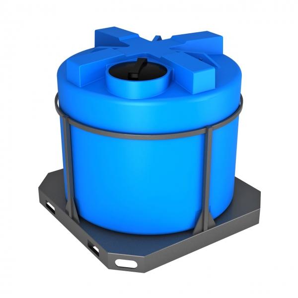 Пластиковая ёмкость в обрешётке объёмом две тонны(две тысячи литров) для питьевой воды,дизельного топлива по самой низкой цене в Москве.