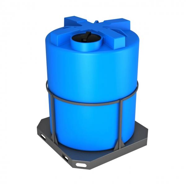 Пластиковая ёмкость объёмом три тысячи литров(три тонны)в металлической обрешётке подойдёт для дизельного топлива или питьевой воды по очень низкой цене в Москве.