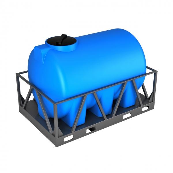 Пластиковая ёмкость две тысячи литров(две тонны) в металлической обрешётке для питьевой воды или дизеля по самой выгодной цене в Москве.