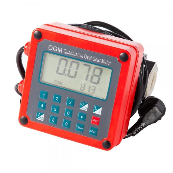 Электронный счетчик учета топлива с возможностью подсчёта стоимости дизельного топлива,удобный топливный счётчик в Москве по оптовой цене(четырехразрядный)