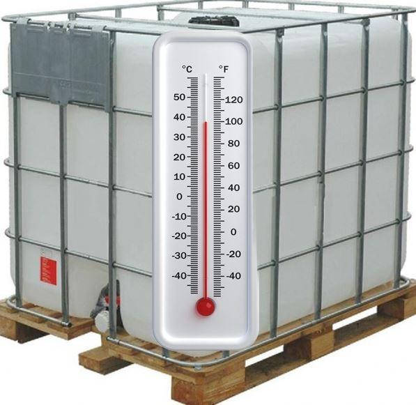 Еврокуб бывший в употреблении с подогревом ,тэн нагреет воду до восьмидесяти градусов и отключится. Температура задается  терморегулятором.