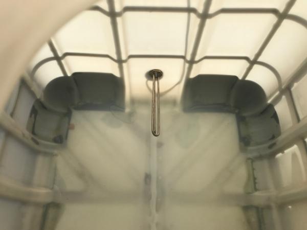 Еврокуб 1000 л, б/у, чистый пропаренный с подогревом 1 тэн и утеплением (поддон дерево)
