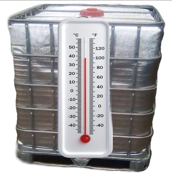 Еврокуб 1000 л, б/у, чистый пропаренный с подогревом 2 тэна и утеплением (поддон металл/пластик)
